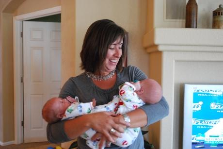 Aunt LeAnn loving on both the boys