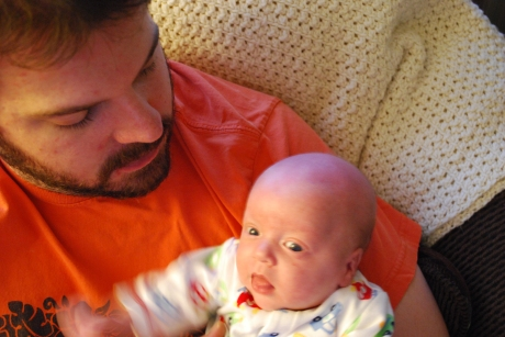 Wes with Daddy