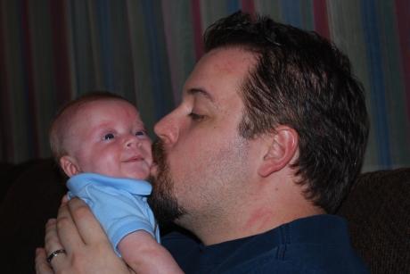 Daddy loving on Max