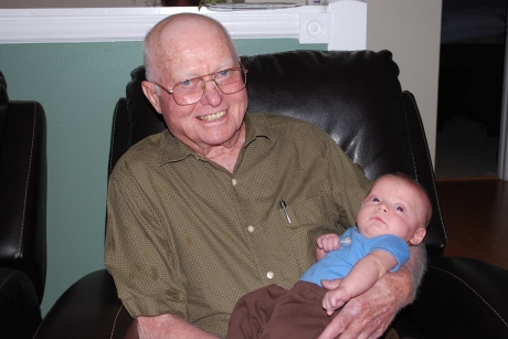 Gramps holding Maxwell