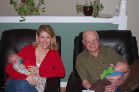 Grampy and I with the boys