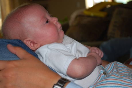Max staring at Aunt LeAnn