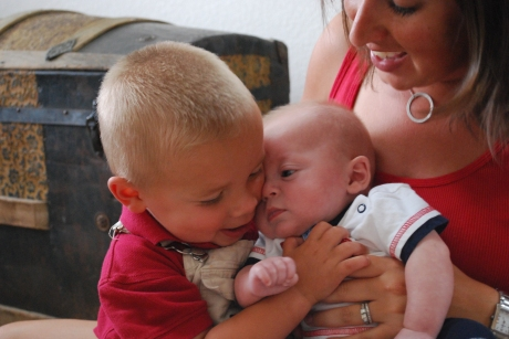 Cousin Asher giving Max loves