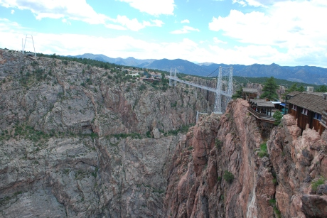 Another view of the bridge and the beautiful mountains