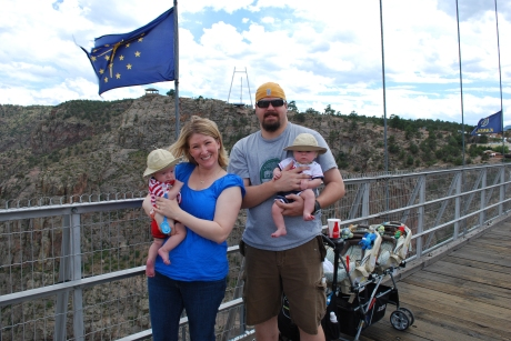 Our family on the Royal Gorge bridge