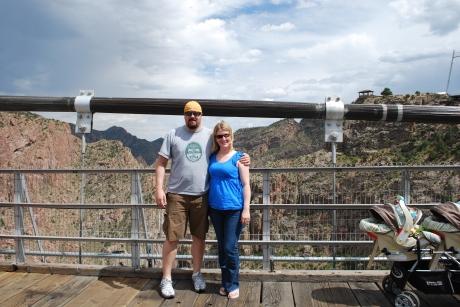 Jeff and I on the bridge