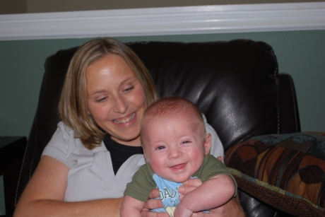 Rhonda and a smiling Max