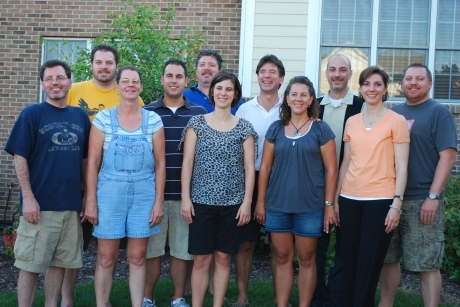 The 11 cousins - (l to r) Pete, Jeff, Charlotte, Eric, Jim, Molly, John, Gertchen, Greg, Jill, and Marty