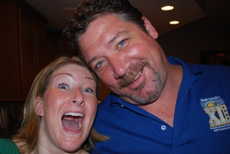 Jim and I being silly...well, me being silly