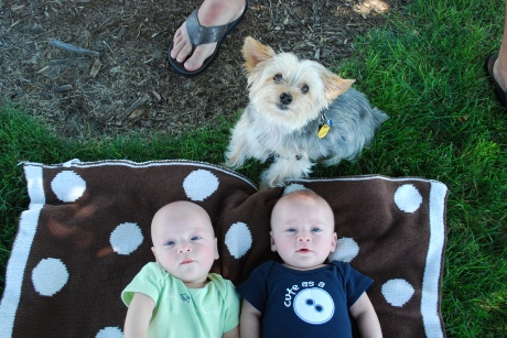My three boys (and Jeff's feet)