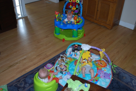 Can you imagine if we would have had triplets?  The boys' playdate with Dylan